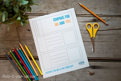free printable coupon book Father's Day idea