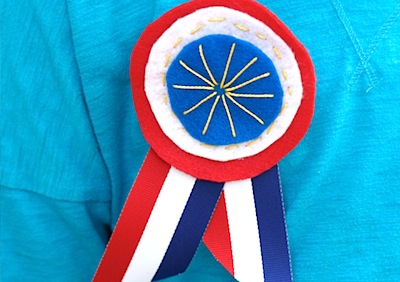 felt medal brooches for 4th of July