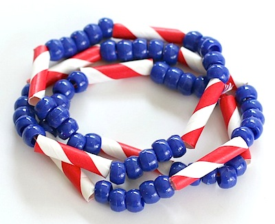 patriotic beaded necklace craft for kids