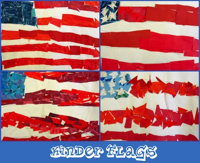 American flag art project