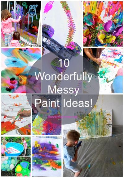 The Crafty Crow 10 messy paint ideas