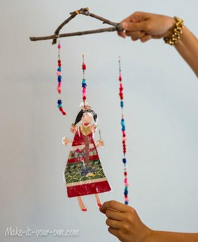 kid art mobile craft