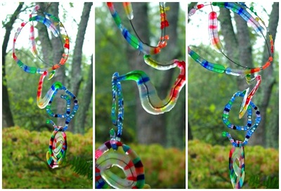 melted bead spiral sun catchers