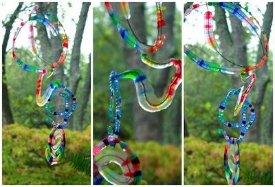 melted bead spiral sun catchers
