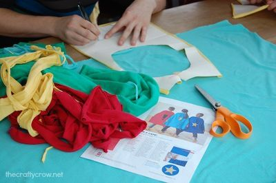 The Crafty Crow superhero capes for kids 1