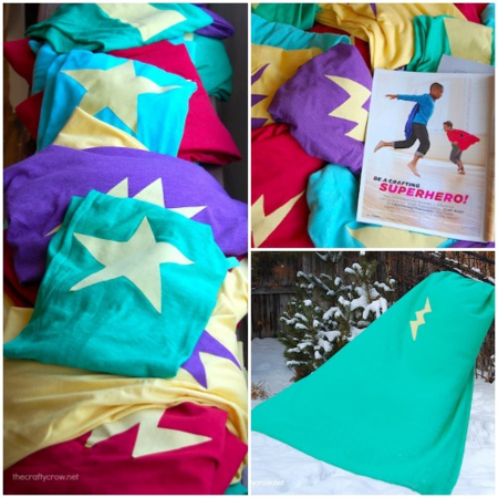 The Crafty Crow superhero capes for kids