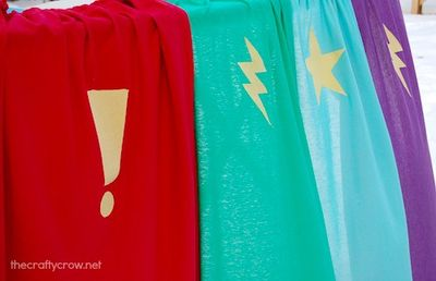 The Crafty Crow superhero capes for kids finished