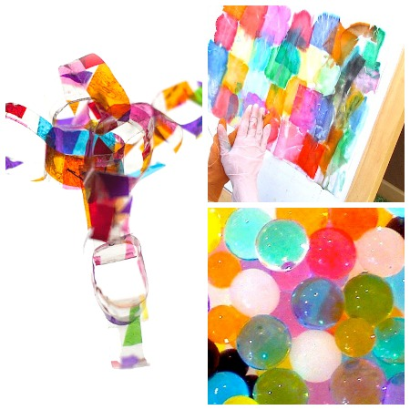 Stained Glass Garland Bleeding Tissue Paper Art And A Bouncy Ball