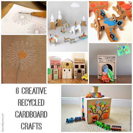 6 creative recycled cardboard crafts for kids to make and play with