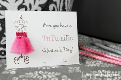 tutu cute free valentine card printable