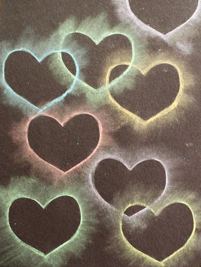 chalk stencil heart