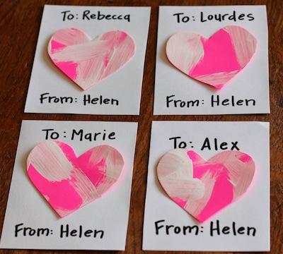 Heart Art Work Valentine Cards