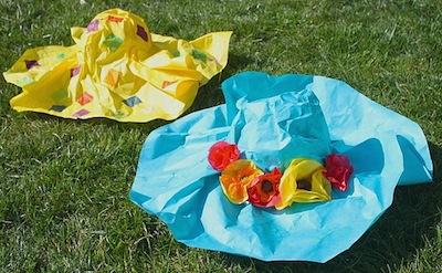 paper mache Easter hats DIY