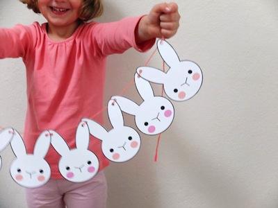 free bunny printable garland