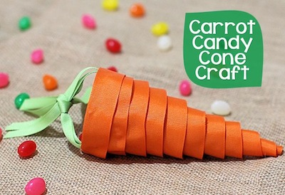 ribbon carrot treat holder