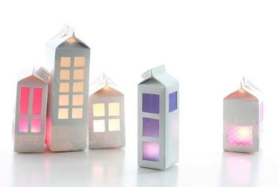 milk carton light house