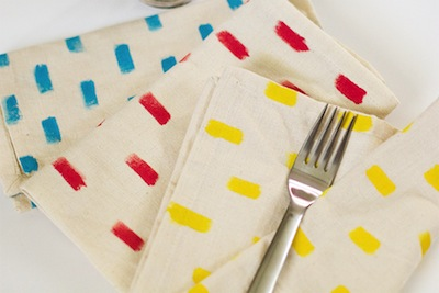 hand painted napkins Mother's Day gift