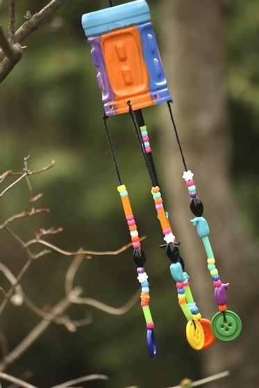 recycled wind chimes craft for kids