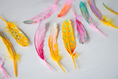 feather painting craft
