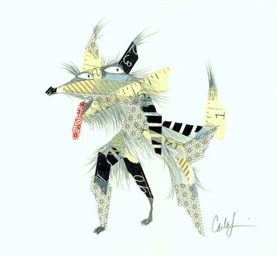 animals in tape art technique for kids