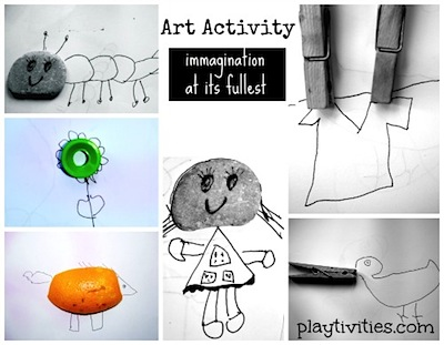 simple art activity for kids with common objects