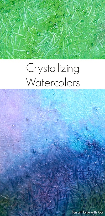 homemade paint recipe crystallizing watercolors