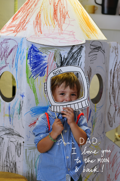 Father's Day photobooth prop homemade card idea