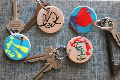 wood slice key chain gift for Father's Day