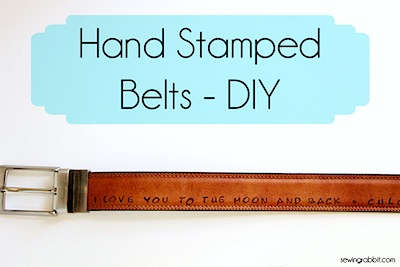 stamped belt Father's Day kids craft