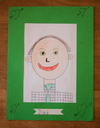 Father's Day portrait drawn by a child