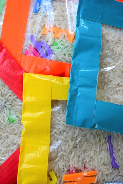 sensory bean bag DIY toy