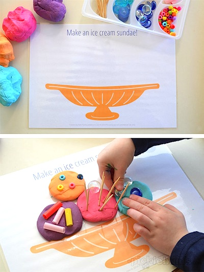 fun food playdough mats free printable