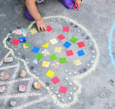 temporary mosaics for kids to make