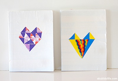 back to school notebook makeover with duct tape