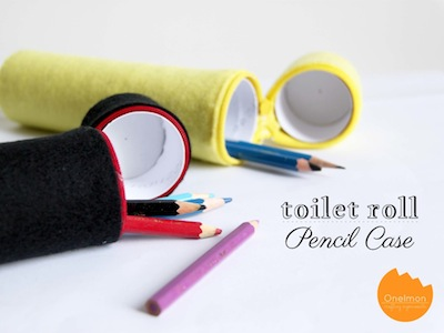 toilet paper tube felt and zipper pencil case