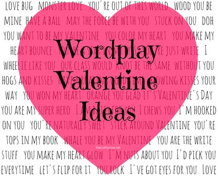 The Crafty Crow wordplay Valentine card ideas round-up