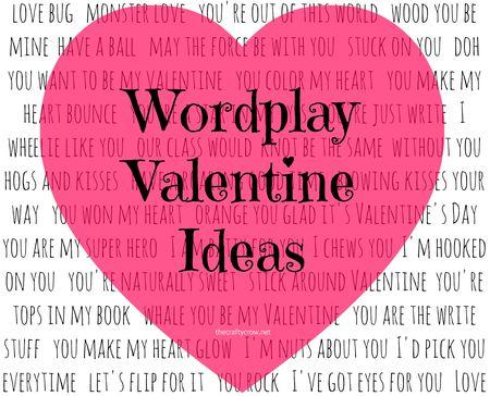 The Crafty Crow wordplay Valentine card ideas round-up