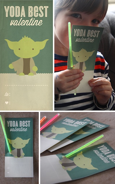 yoda best valentine printable