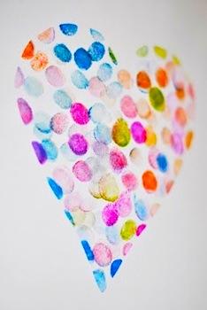 fingerprint heart for Valentine's Day
