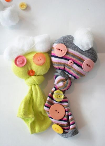 little lovey sock puppets