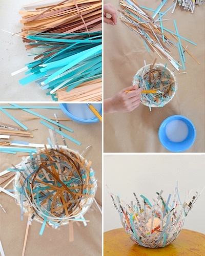 paper bird nest craft for Easter