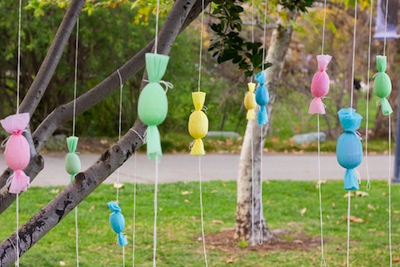 egg popper Easter tree idea