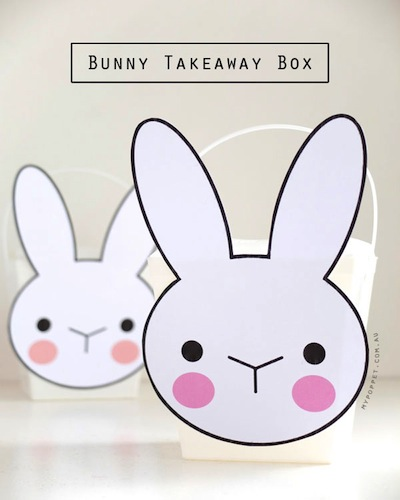 free bunny printable treat box