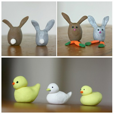 polymer clay Easter animals
