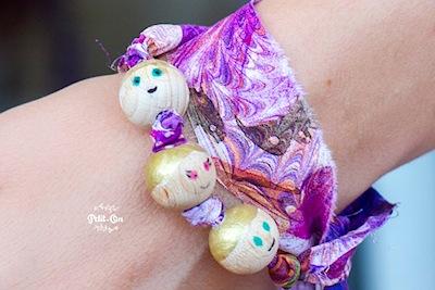 wooden bracelet handmade for Mother's Day gift
