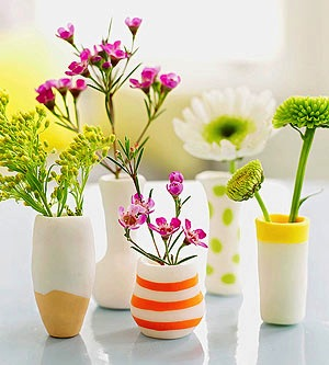 polymer clay vases for Mother's Day