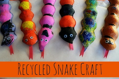 recycled fruit packaging snakes
