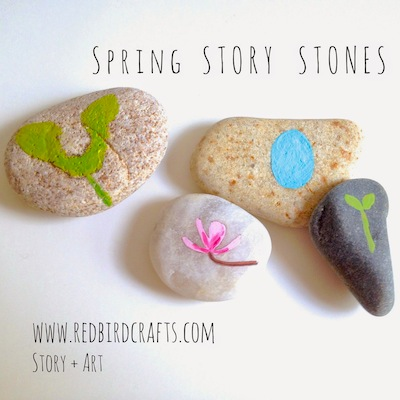 spring story stones