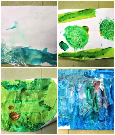 landscape art with preschoolers