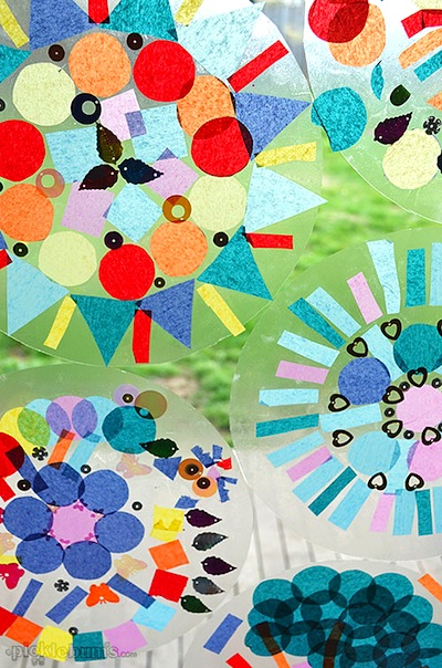 Easy Contact Paper Mandalas Things To Make And Do Crafts And